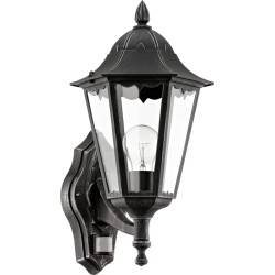 NAVEDO Lanterne avec détecteur - noir