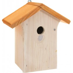 Nichoir en bois toit double pente