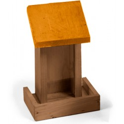 Petit silo à graines en bois