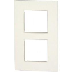 Plaque double verticale NIKO Intense blanc