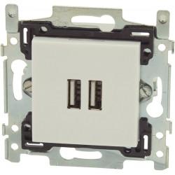 Prise chargeur intelligent USB NIKO blanc