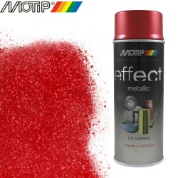 MOTIP DECO EFFECT spray rouge metallique 400 ml