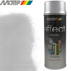 MOTIP DECO EFFECT spray argent alu metallique 400 ml
