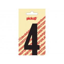 """Chiffre """"4"""" autocollant 90mm noir"""