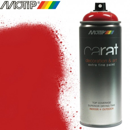MOTIP CARAT spray rouge signalisation 400 ml