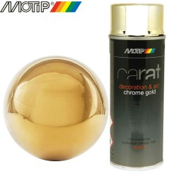 MOTIP CARAT spray effet chrome or 400 ml