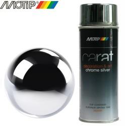 MOTIP CARAT spray effet chrome argent 400 ml