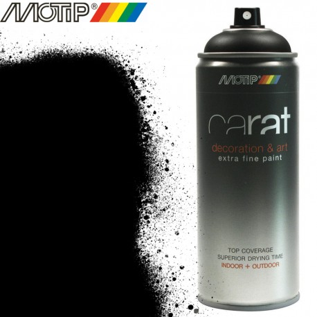 MOTIP CARAT spray noir signalisation 400 ml