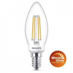 Ampoule Flamme LED PHILIPS Claire E14 ~40W WarmGlow