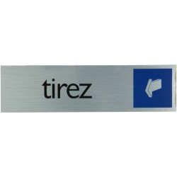 "Pictogramme alu ""tirez"" 165x44mm"