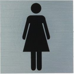 "Pictogramme alu ""dames"" 80x80mm"