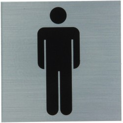 "Pictogramme alu ""hommes"" 80x80mm"