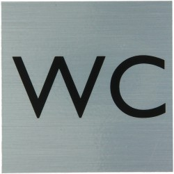"Pictogramme alu ""WC"" 80x80mm"