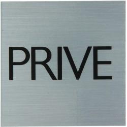 "Pictogramme alu ""privé"" 80x80mm"