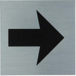 "Pictogramme alu ""flèche de direction"" 80x80mm"