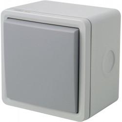 Interrupteur 2p en boîtier NIKO Hydro gris