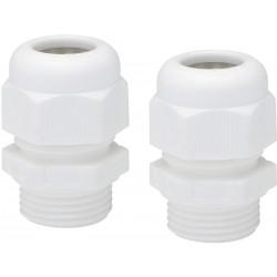 2 Presse-étoupe M20 NIKO Hydro blanc