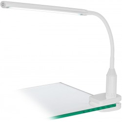 LAORA Lampe de bureau LED à pince blanc