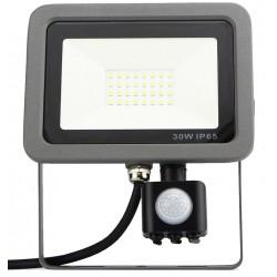 Projecteur LED extraplat 30W avec détecteur