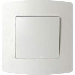 Interrupteur unipolaire encastré PROFILE blanc