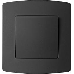 Interrupteur unipolaire encastré PROFILE noir