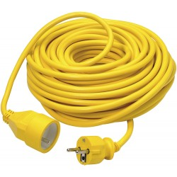 Rallonge PVC jaune 20m