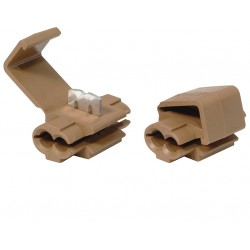 10 connecteurs rapides bruns 1,5-2,5mm²