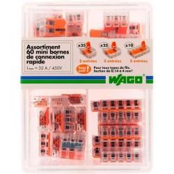Assortiment 60 connecteurs à leviers WAGO