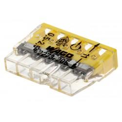 10 connecteurs compacts WAGO 5 entrées