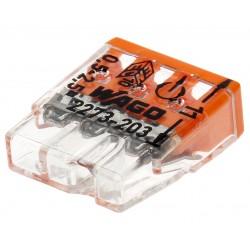 10 connecteurs compacts WAGO 3 entrées