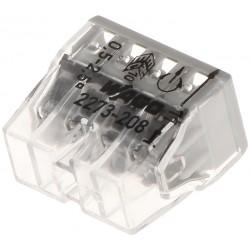 10 connecteurs compacts WAGO 8 entrées