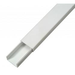 Goulotte autocollante 20x10 blanc - 2m