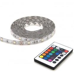 Strip LED IP44 RGB 2m avec télécommande