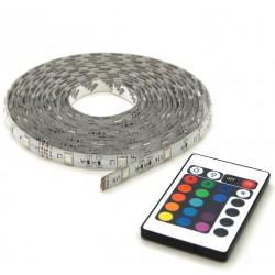 Strip LED IP44 RGB 5m avec télécommande