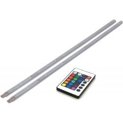 Baguettes LED RGB 2x40cm