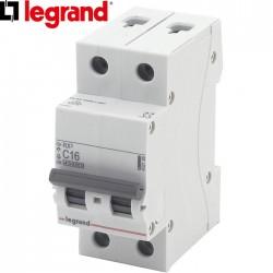 Disjoncteur bipolaire LEGRAND RX³ C16