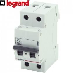 Disjoncteur bipolaire LEGRAND RX³ C20