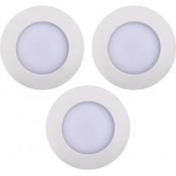 LEONIS 3 spots encastrés IP65 2700K blanc