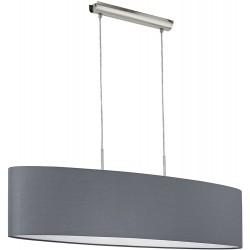 PASTERI Suspension ovale 100cm tissus gris