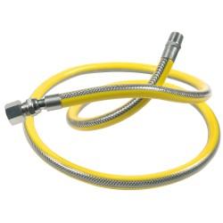 Flexible jaune pour gaz naturel 100cm