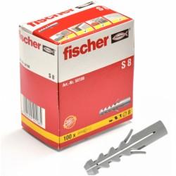 Chevilles FISCHER S8 100pcs