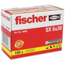 Chevilles FISCHER SX6 100pcs