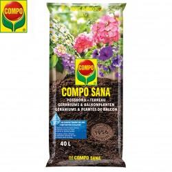 Terreau Géraniums et plantes de balcon COMPO SANA