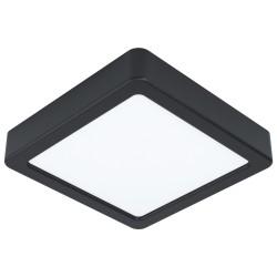 FUEVA Plafonnier LED carré 16cm noir WW
