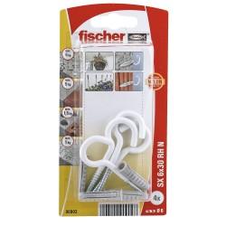 Chevilles et crochets ronds FISCHER SX6 4 pcs