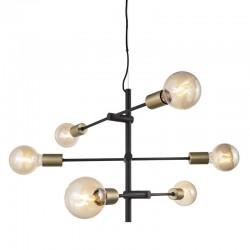JOSEFINE Lustre 6 ampoules - noir
