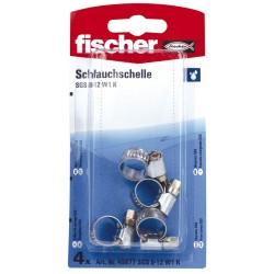 Colliers de serrage FISCHER 8-12 mm 4pcs