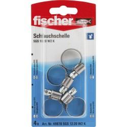 Colliers de serrage FISCHER 12-20 mm 4pcs