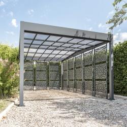 Carport en aluminium LIBECCIO 8 claustras