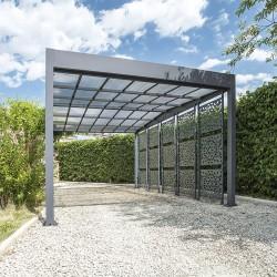 Carport en aluminium LIBECCIO 5 claustras